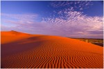 Deep Red sand dunes of the Strzelecki Desert in outback South Australia.